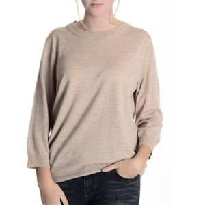 J. Crew Tan 3/4 Sleeve Light Sweater
